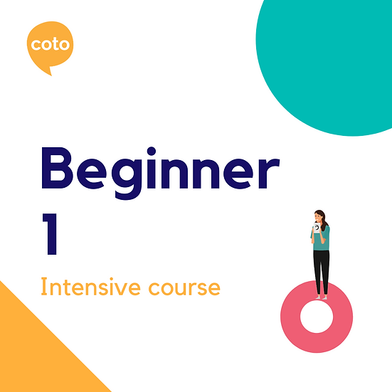 Beginner 1 - Intensive Course Materials