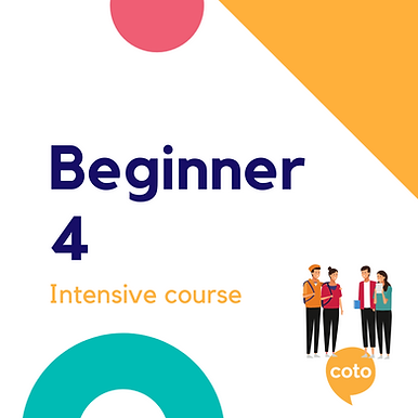 Beginner 4 - Intensive Course Materials