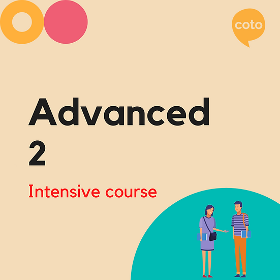 Advanced 2 - Intensive Course Materials