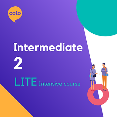 Lite Intensive: Intermediate 2 material