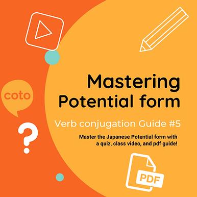 #5 Japanese Conjugation Kit : Potential form