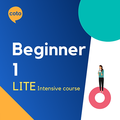 Lite Intensive: Beginner 1 material