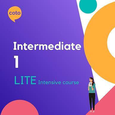 Lite Intensive: Intermediate 1 material