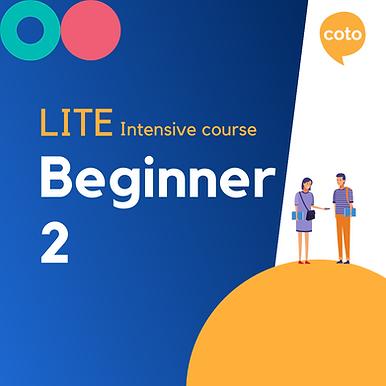 Lite Intensive: Beginner 2 material