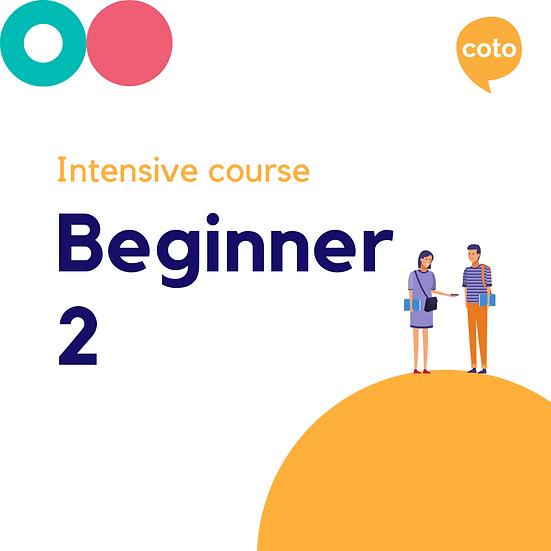 Beginner 2 - Intensive Course Materials (2020)