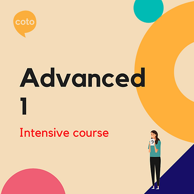 Advanced 1 - Intensive Course Materials