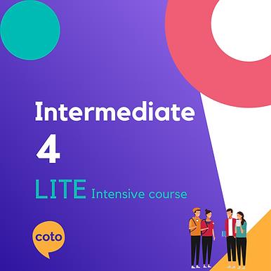 Lite Intensive: Intermediate 4 material