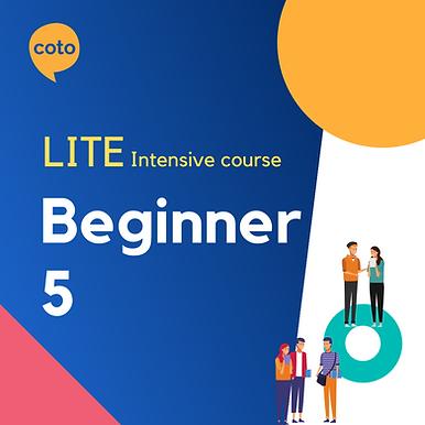 Lite Intensive: Beginner 5 material