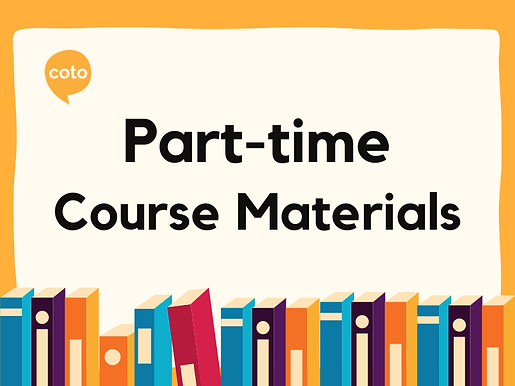 Part-time Course Materials