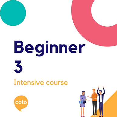 Beginner 3 - Intensive Course Materials (2020)