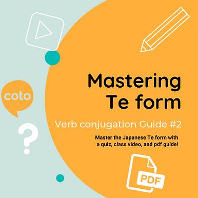 #2 Japanese Conjugation Kit : Te form