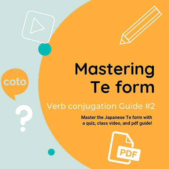 #2 Japanese Conjugation Kit : Te form