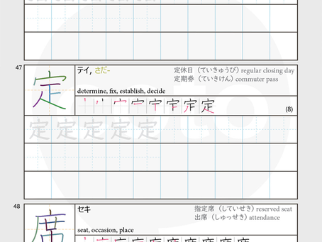 Kanji Practice Worksheet Free Download: JLPT N3 -Unit 2: Transportation – PDF