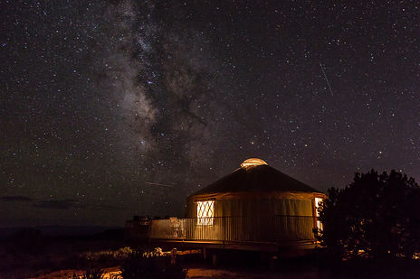 Milky Way Over Yurt at Dead Horse Point