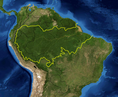 Map of the Amazon River Basin.