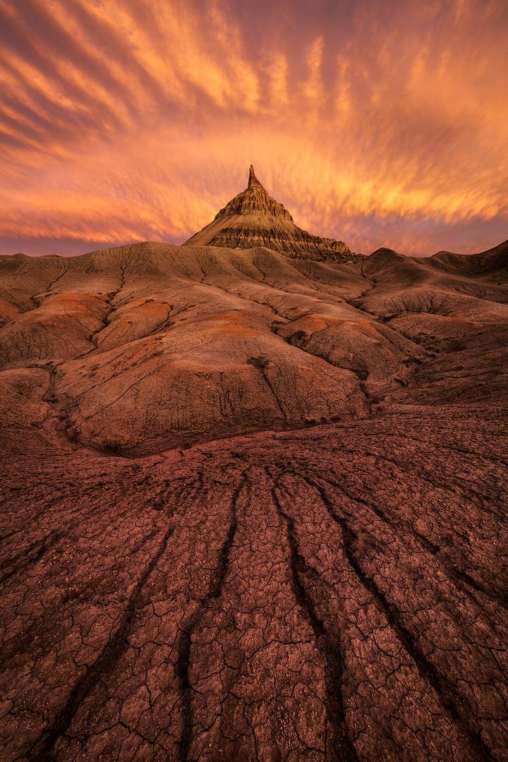 Factory-Butte-sunset-3-Colorado-Plateau-
