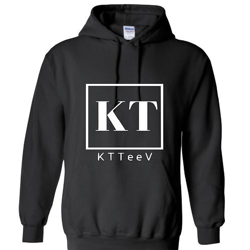 White KTTeeV Logo Hoodie