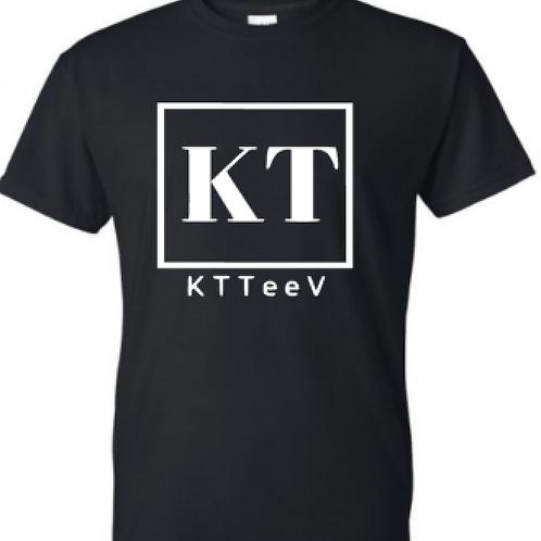 White KTTeeV Logo | Colored Tee