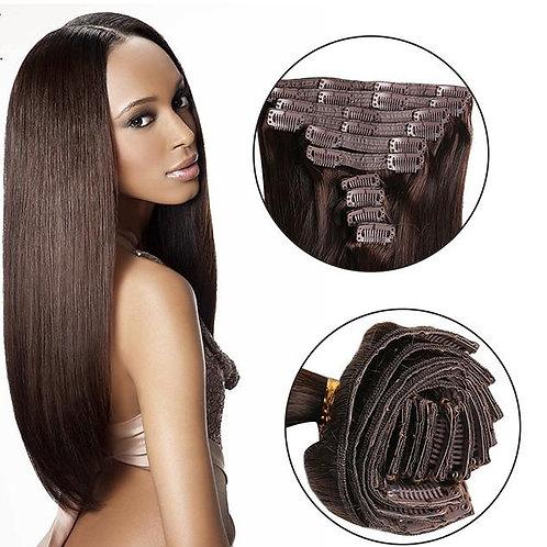 Silky Straight Human Hair Clip-ins