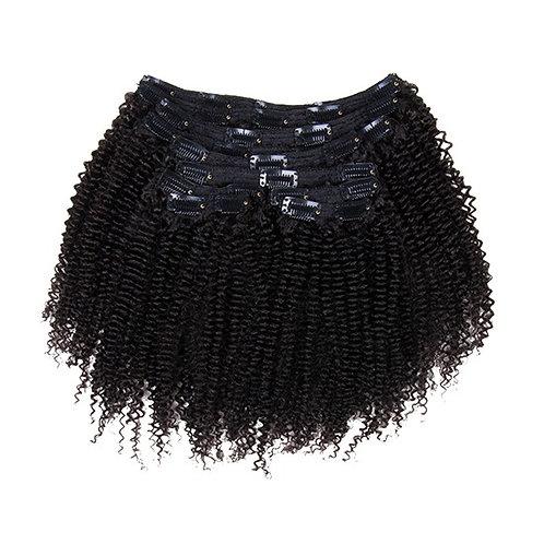 Kinky Curly Human Hair Clip-ins