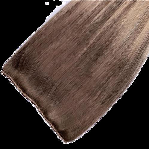 Highlighted Natual Brown Human Hair Clip-ins