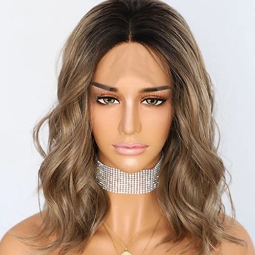 Khloe Bob Cut Ombre Lace Frontal Wig (100% Remy Human Hair)