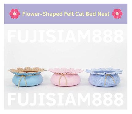 pet house บ้านแมว ทรงดอกไม้ ทรงถังสมบัติ (มี 3 แบบ 3 สี)