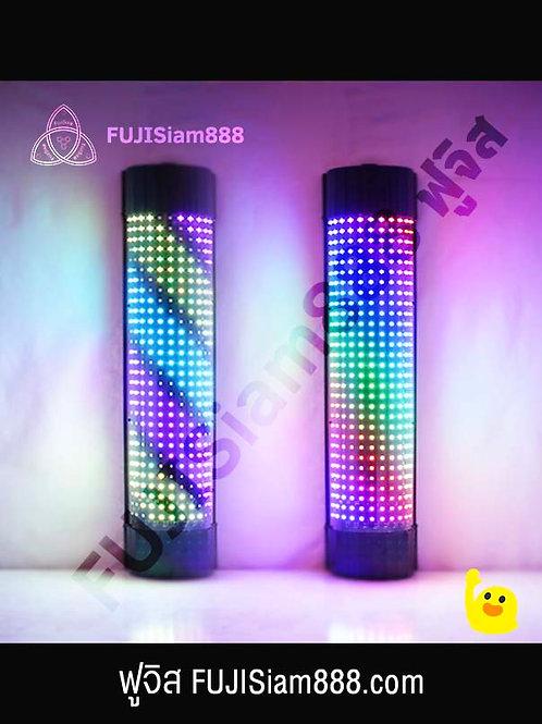 ไฟร้านตัดผม LED รีโมต เปิด-ปิด เลือกสี ปรับความเร็ว ความสว่าง ไฟหมุนร้านตัดผม