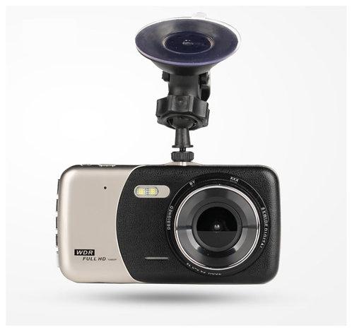 กล้องติดรถยนต์ บันทึกหน้าหลัง HD ชัดกลางคืน จอ 4 นิ้ว ภาษาอังกฤษ