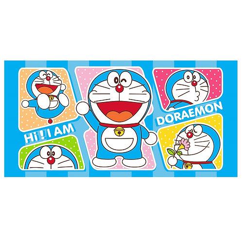 Doraemon 4 โดราเอมอน ผ้าขนหนู ผ้าเช็ดตัว 30x60 นิ้ว สีฟ้า