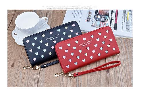 กระเป๋าสตางค์ รูปหัวใจ หลากสี 14 ช่อง สไตล์เกาหลี กระเป๋ามี 5 สี