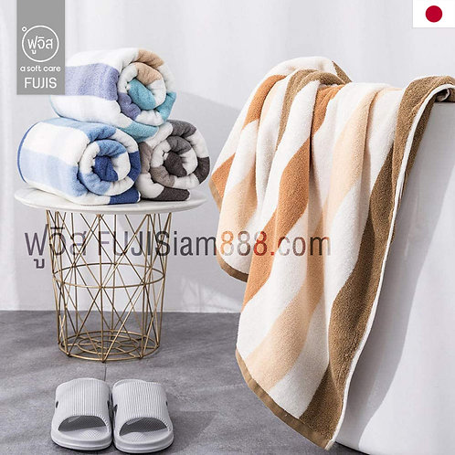 ผ้าเช็ดตัว ผืนใหญ่ 90x180cm ผ้าฝ้าย Cotton (สี 5 แบบ) Towels 32-Strand Cotton