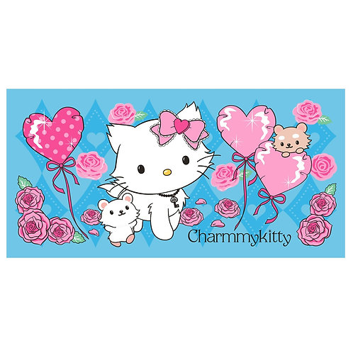 Hello Kitty คิตตี้ หัวใจ ผ้าเช็ดตัว ผ้าขนหนู Kitty สีฟ้า 30x60 นิ้ว (ใหญ่)