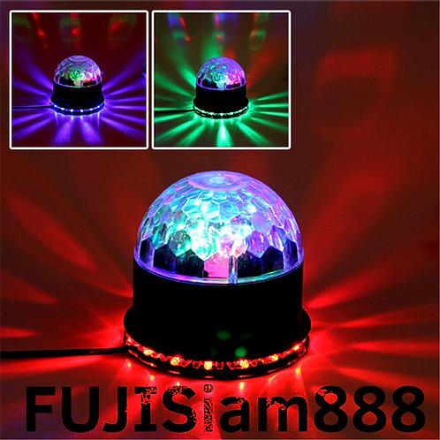 2 in 1 ไฟดิสโก้หลากสี LED ไฟเธค ดิสโก้ กระพริบตามเสียงเพลง