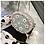 Thumbnail: Flor กระเป๋าสะพายแฟชั่นเกาหลี ทรงกลม ลายดอกไม้ สายโซ่ทอง