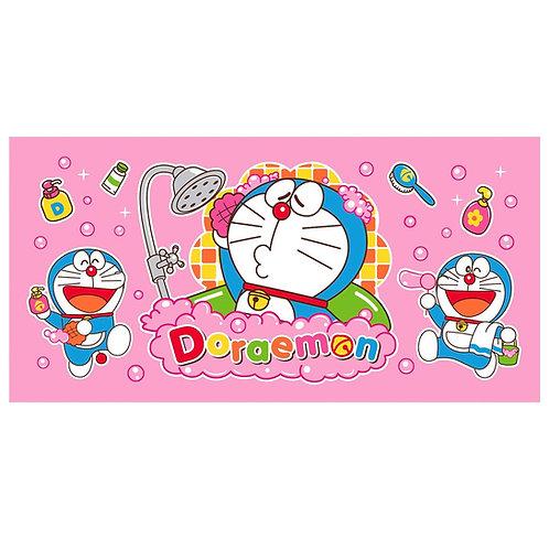 Doraemon โดราเอมอน โดเรม่อน สีชมพู โดเร่มอน อาบน้ำ 30x60 นิ้ว (ใหญ่)