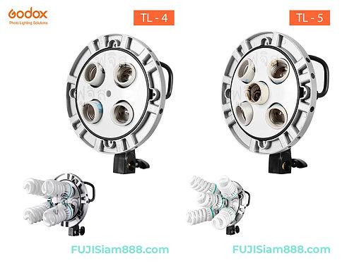 GodoxTL-4, TL-5 หัวไฟ ฐานไฟ 4 ดวง และ 5 ดวง ขั้ว E27 Socket Lamp Head