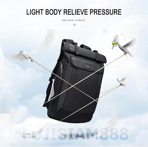 OZUKO กระเป๋าท่องเที่ยวรอบโลก กันน้้ำ ใส่แล็ปท็อป 15.6 นิ้วได้