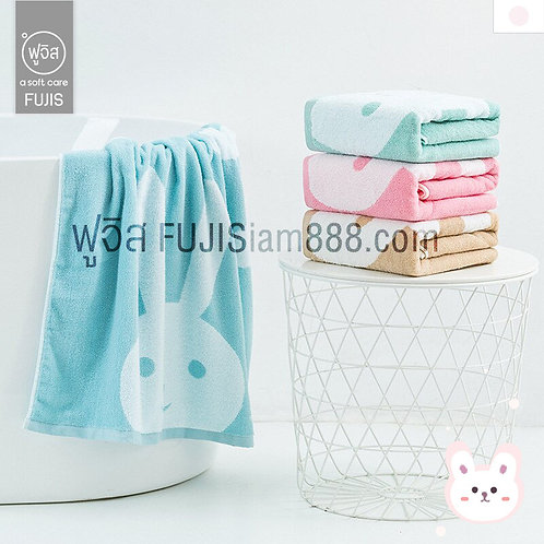 ผ้าเช็ดตัวการ์ตูน (4 สี) กระต่าย Rabbit Towel น่ารักมาก 70 * 140cm