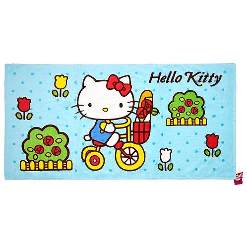 Hello Kitty คิตตี้ คิทตี้ ผ้าเช็ดตัว ผ้าขนหนูKitty สีฟ้า 30x60 นิ้ว