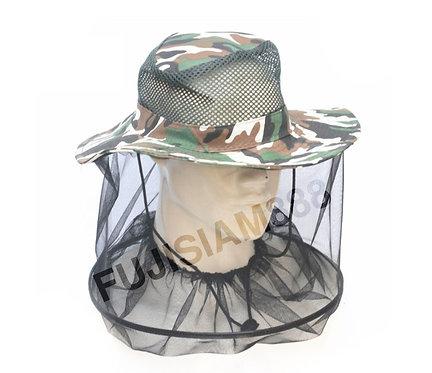 หมวกกันยุง กันแมลง กันแมง กันผึ้ง เมื่อเดินเข้าป่า
