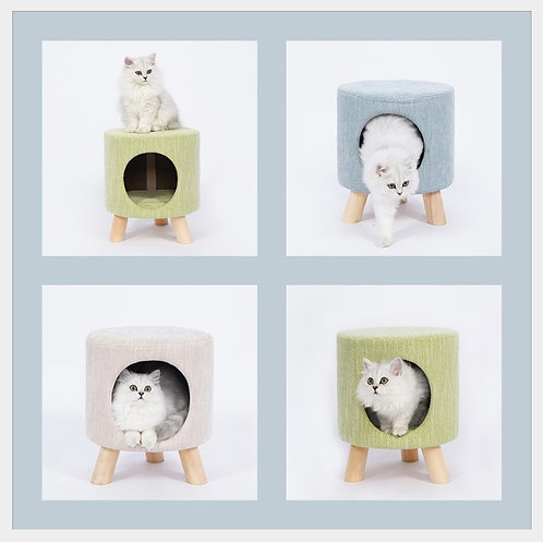 pet house บ้านแมว ใต้เก้าอี้ เก้าอี้ที่นอนแมว Pet Nest Stool