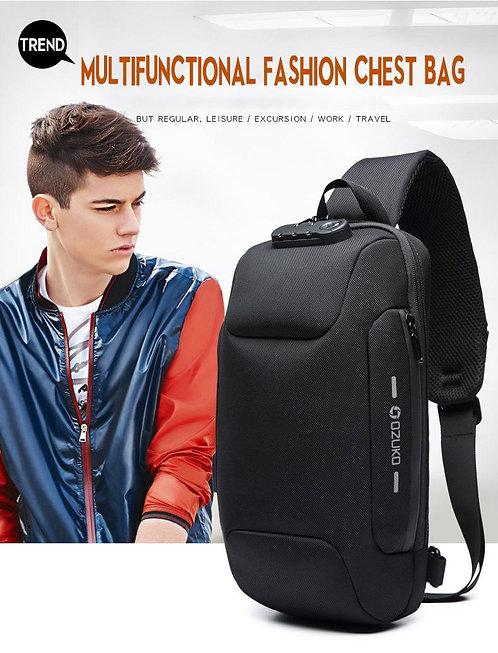 OZUKO กระเป๋าคาดหน้าอก มี 5 แบบ  Anti-Theft ล็อค TSA