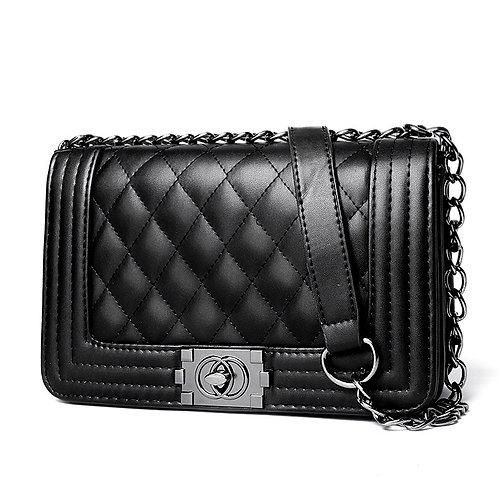กระเป๋าสะพายเกาหลี สีดำ รุ่น K Classic