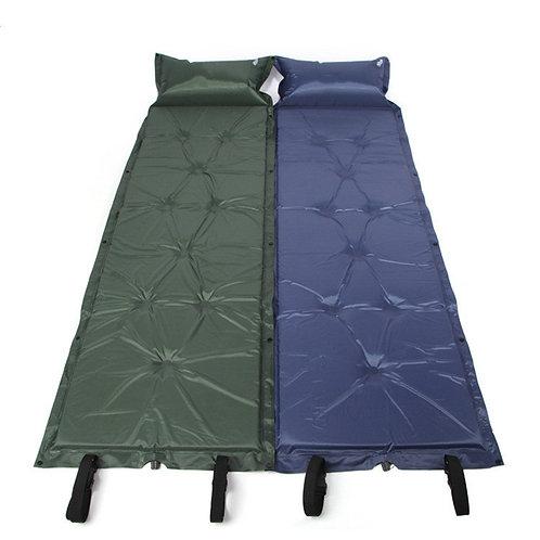 เบาะรองนอน แผ่นรองนอน เบาะพองอัตโนมัติเมื่อเปิดฝาลม พกสะดวก (พร้อมหมอนเป่าลมเอง)