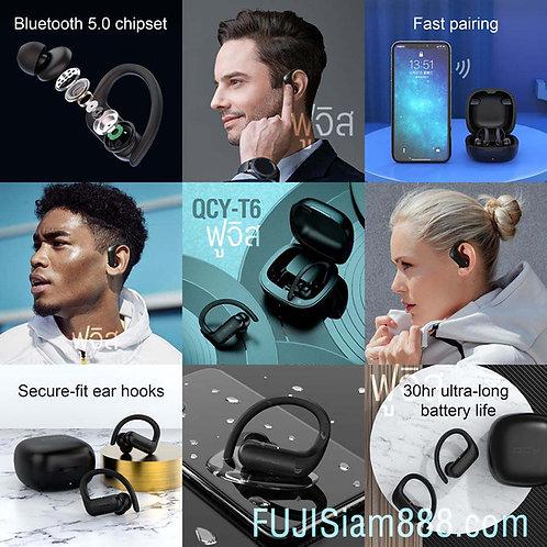 หูฟัง QCY T6 True Wireless Earbuds หูฟัง คล้องหู บลูทูธ หูฟังออกกำลังกาย