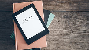 tablet-with-ebook-word-on-it-on-top-of-a