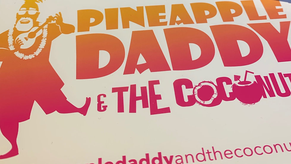 Window Cling - Multi-color with the official Pineapple Daddy logo