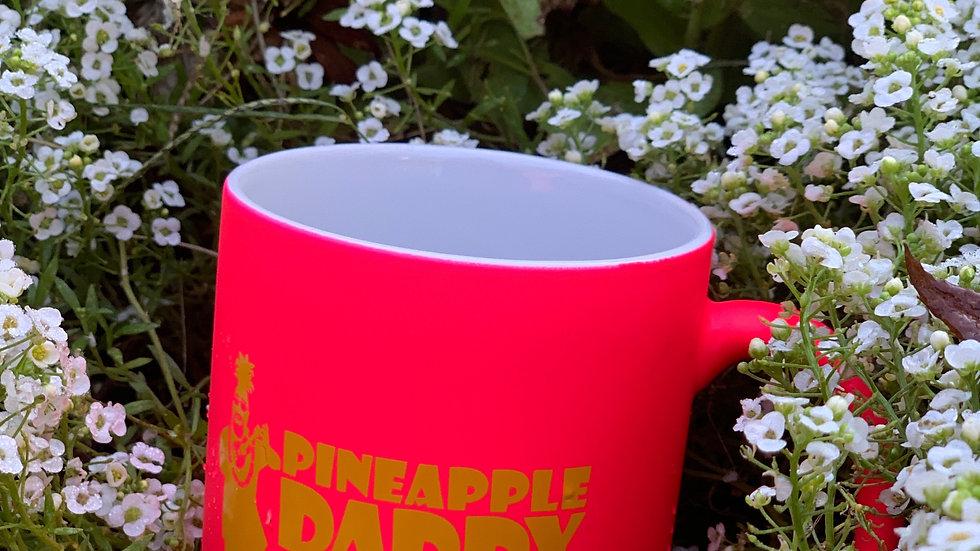 11oz. Pineapple Daddy and the Coconuts neon mug - HAWAIIAN HOT PINK!