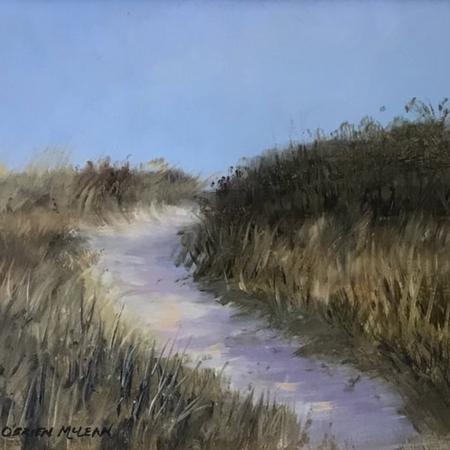 Winter Beach Path